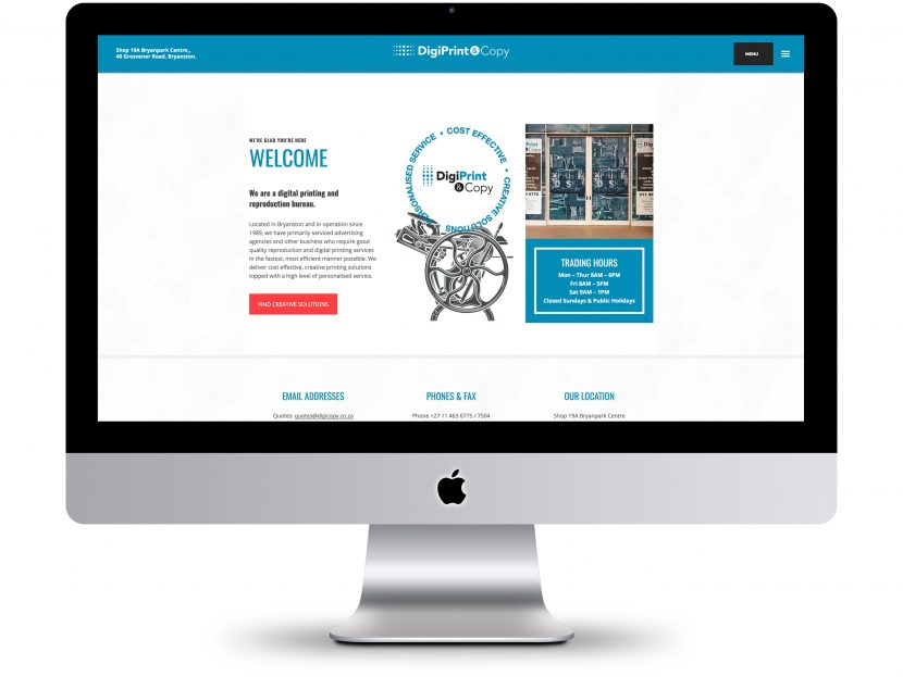 DigiPrint & Copy - Website Design
