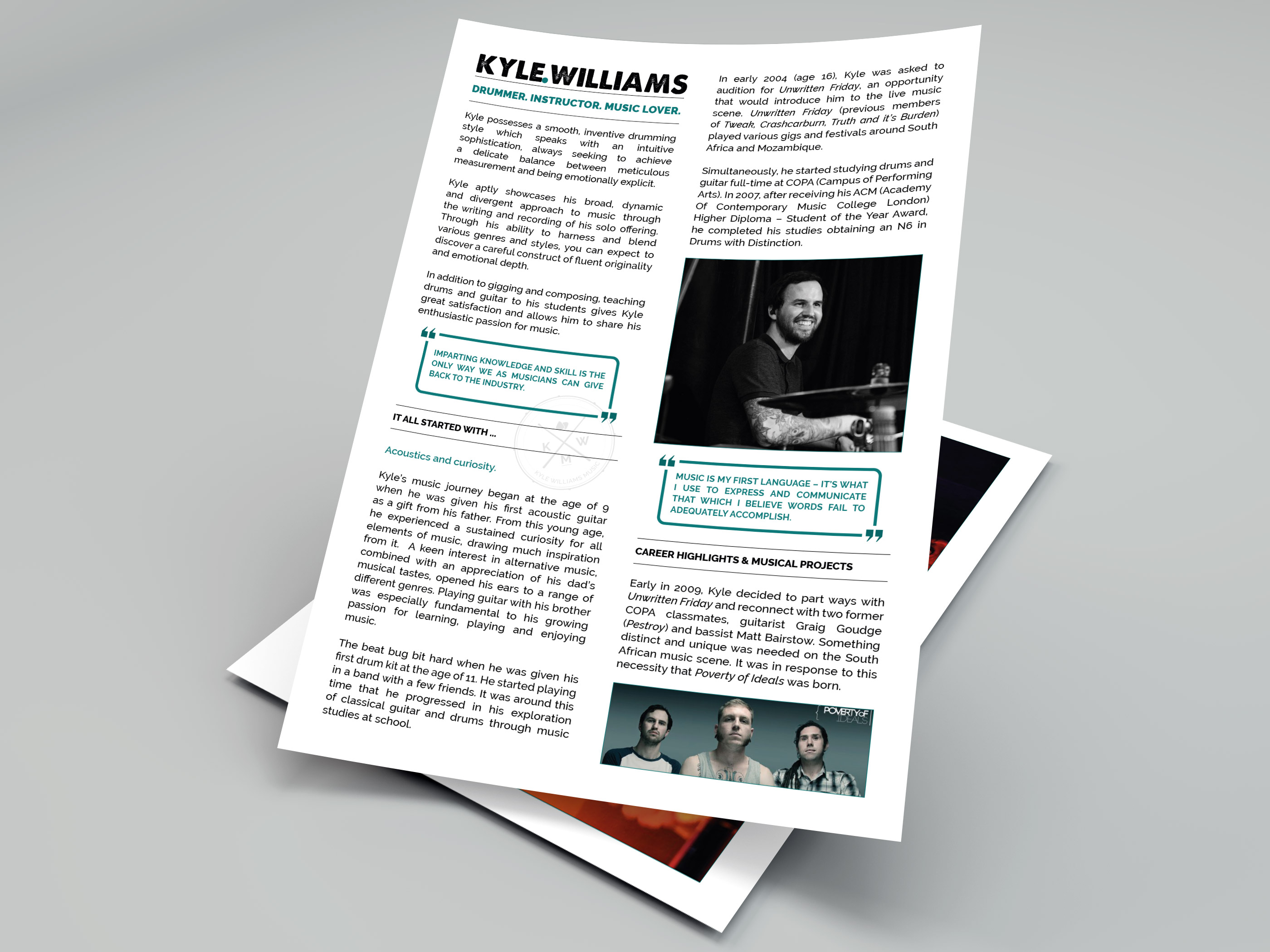 Kyle Williams Music - Visual Identity