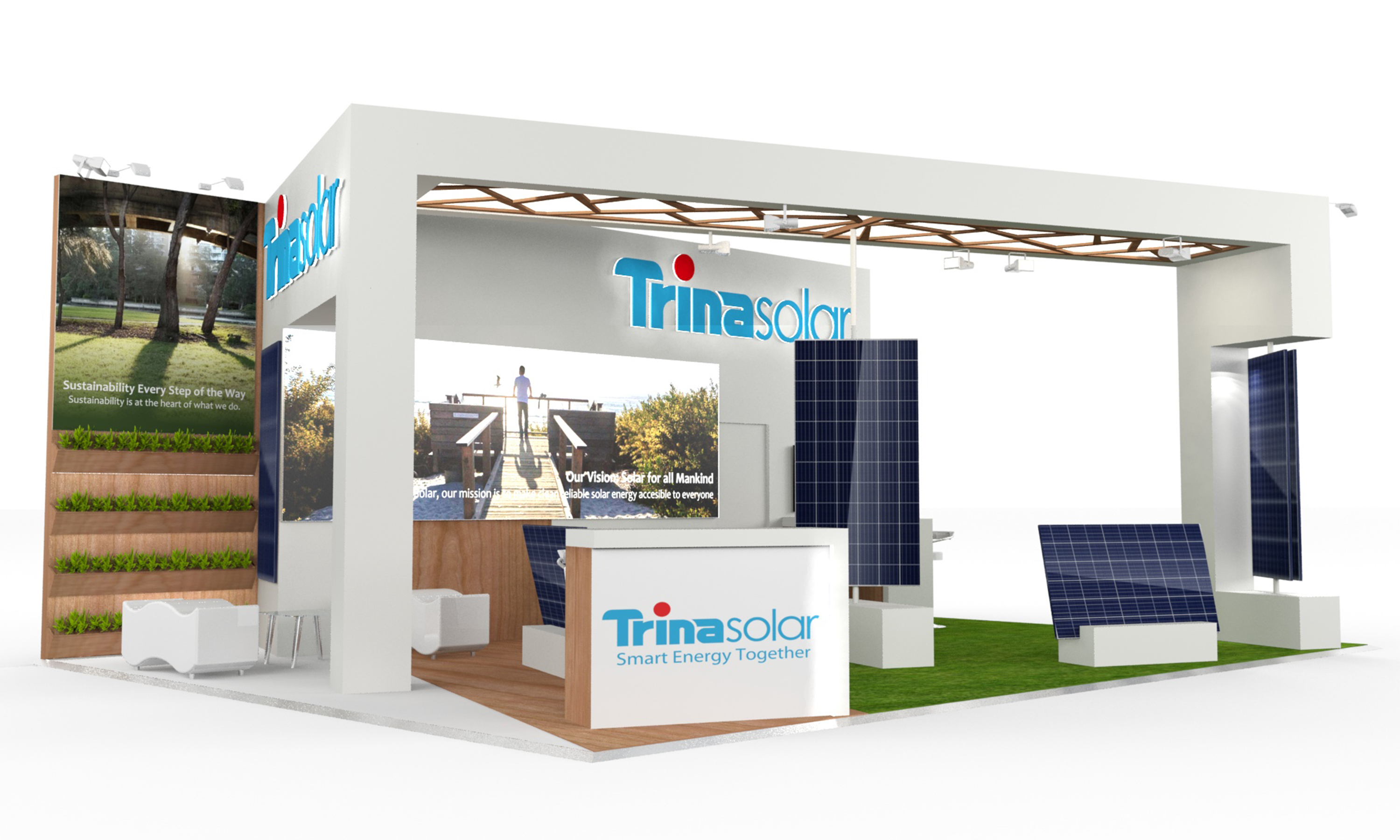 Exhibition Stand Design Hertford : Exhibition stand design trina solar sugarlab creative