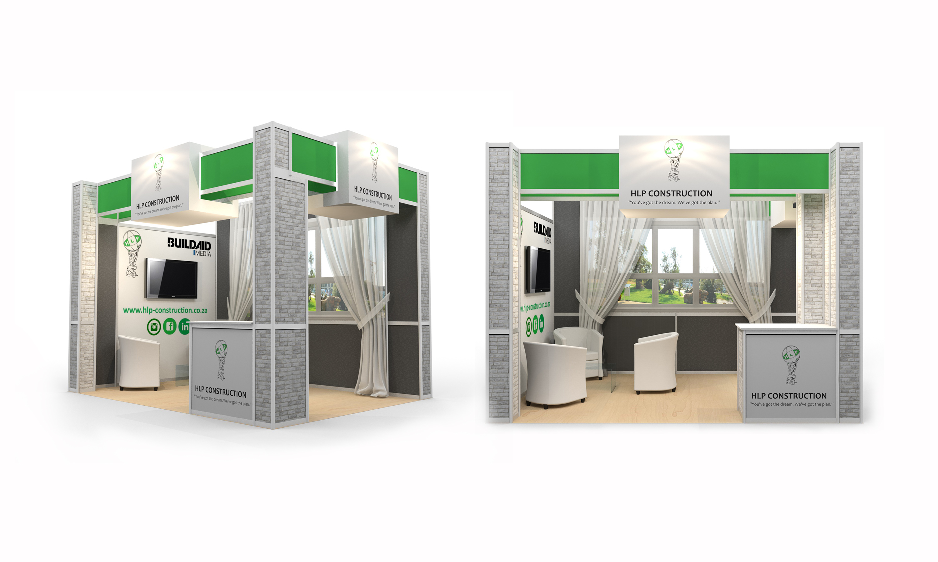 SugarLab Creative - System Exhibition Stand Design - HLP Construction