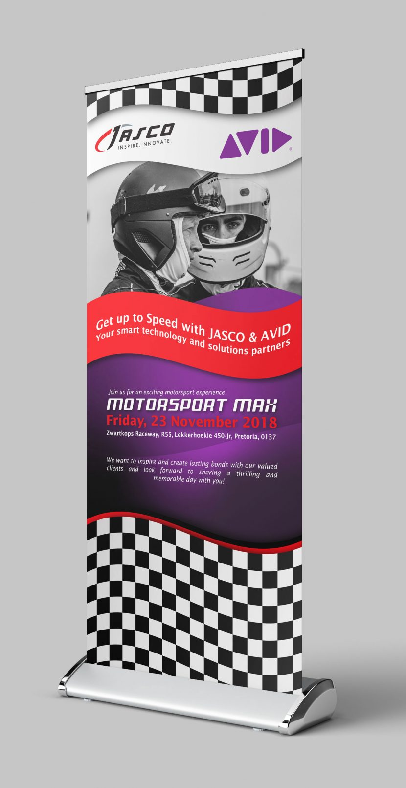 SugarLab Creative - Pull-up Banner Design - Jasco and Avid
