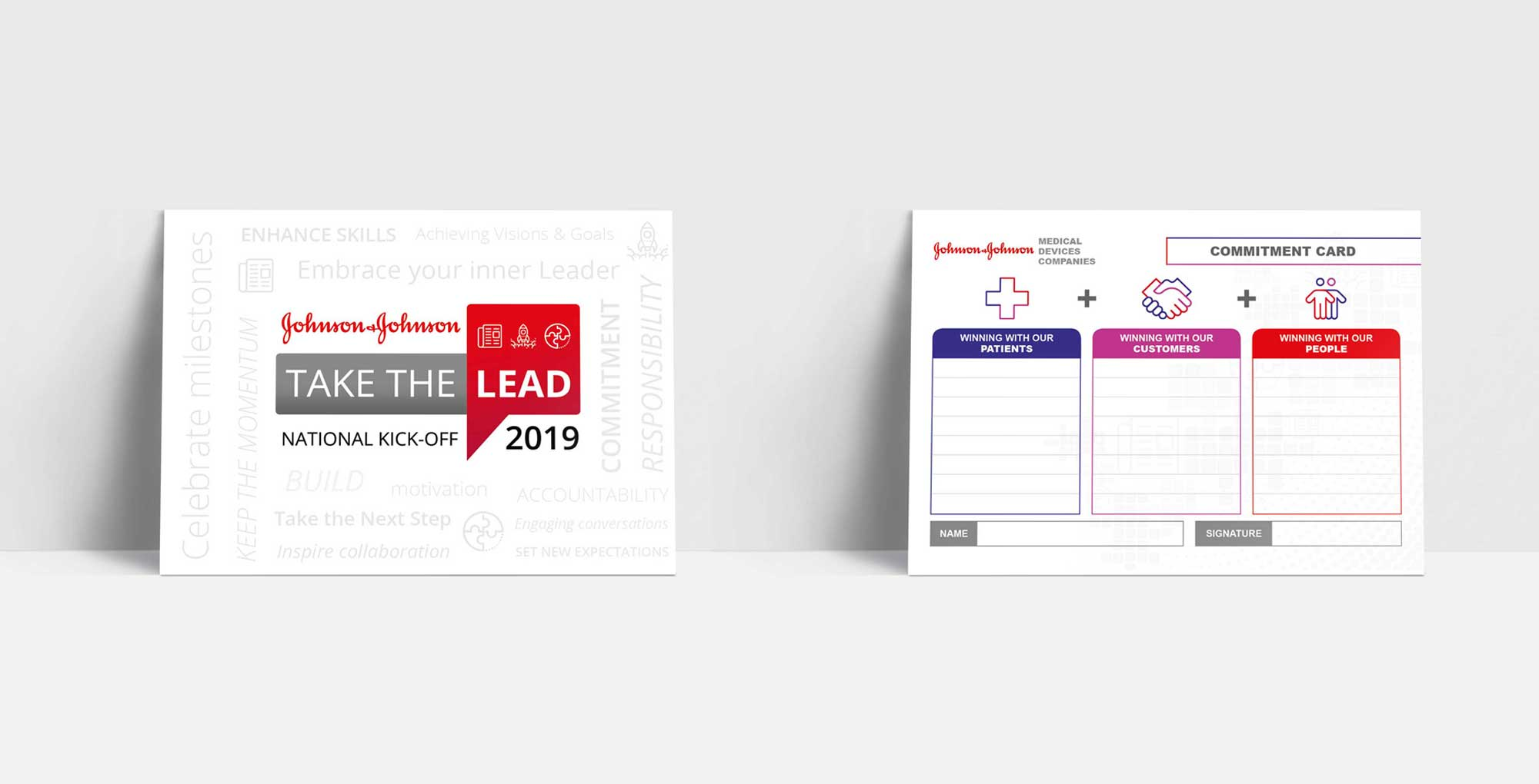 Johnson & Johnson - National Kick-off 2019 - Commitment Cards