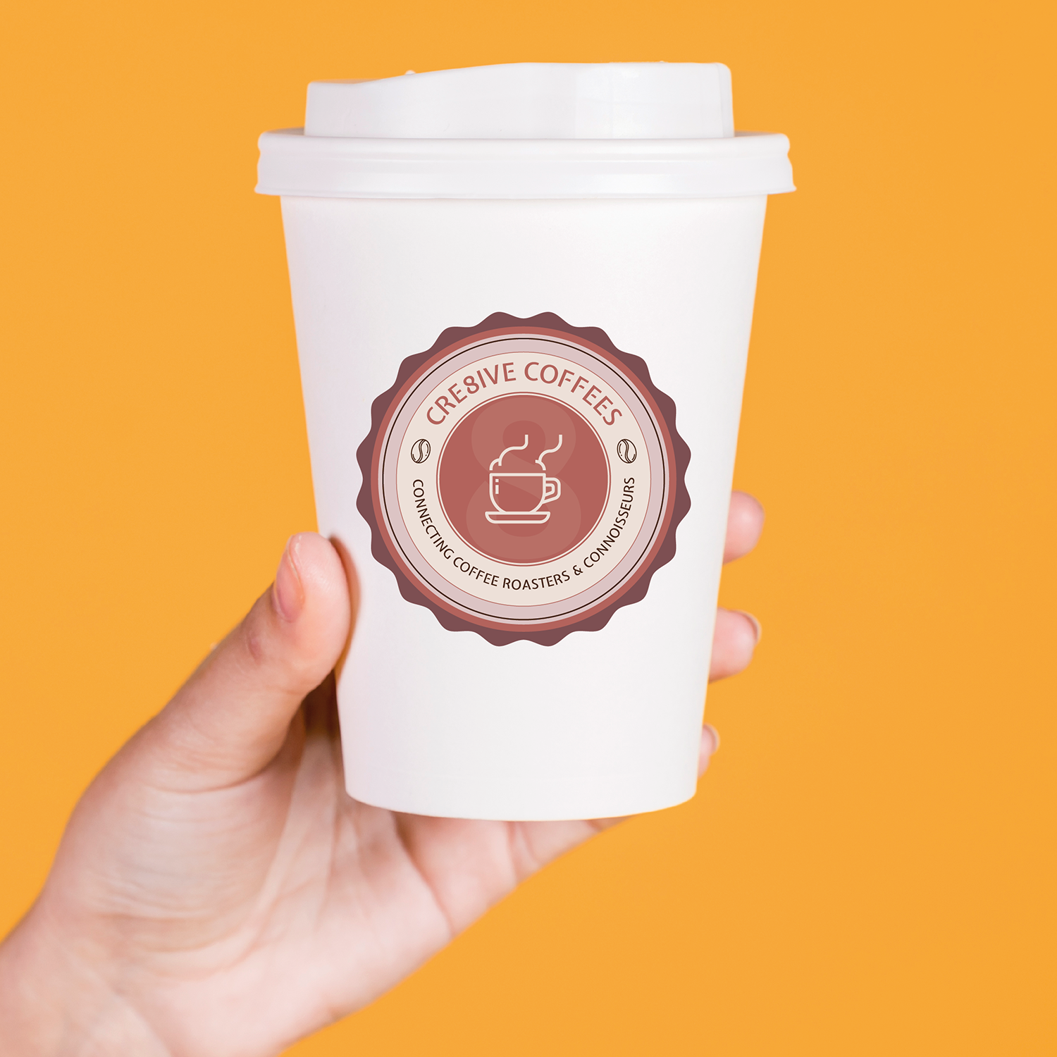 SugarLab Creative | Logo Design for Cre8ive Coffees
