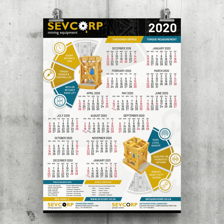 SugarLab Creative SA - Calendar Design - Sevcorp Mining Equipment