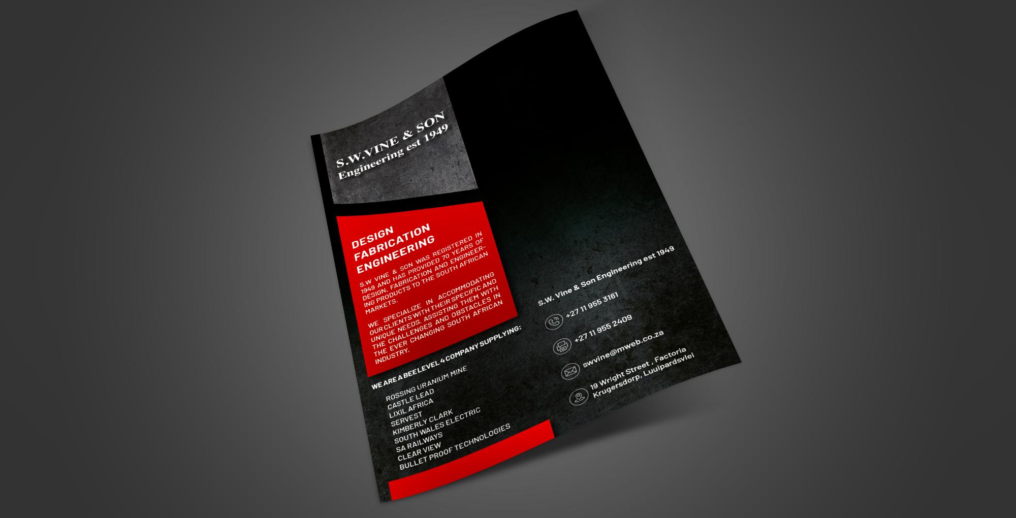SugarLab Creative | Brochure Design - Stealth Precision