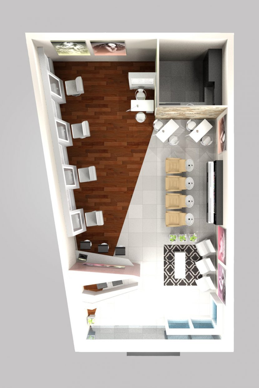Hair Salon - Interior Design