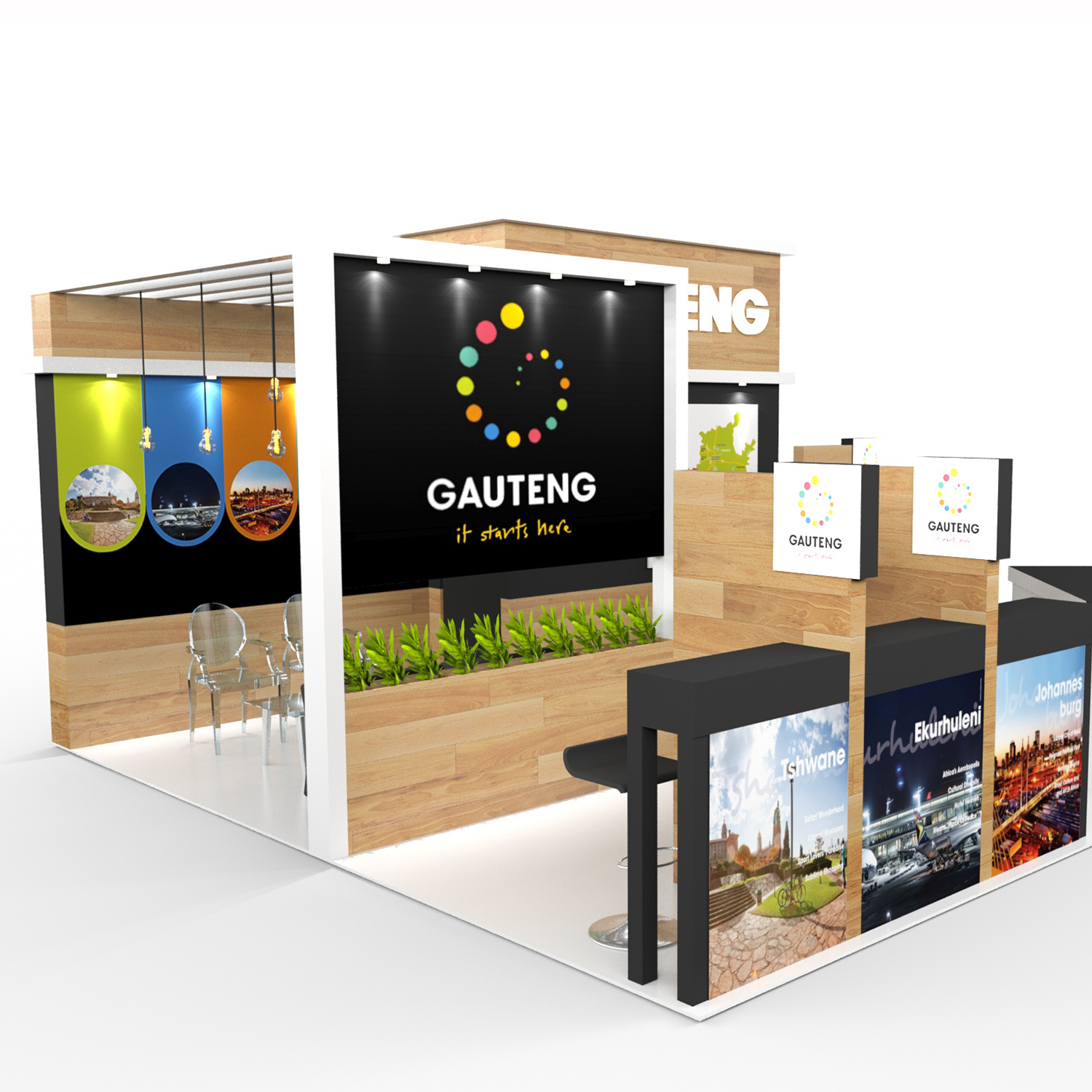 SugarLab Creative - Custom Exhibition Stand Design for Gauteng Tourism Authority