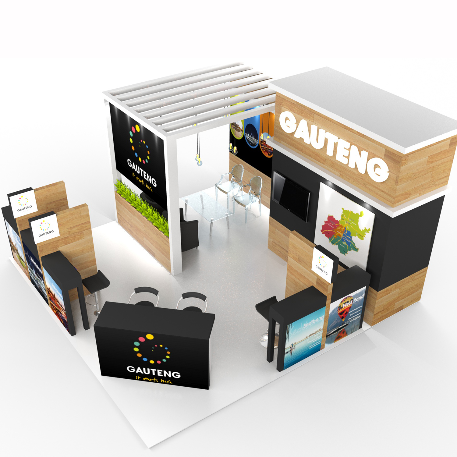 SugarLab Creative - Custom ExhiSugarLab Creative - Custom Exhibition Stand Design for Gauteng Tourism Authoritybition Stand Design for Gauteng Tourism Authority