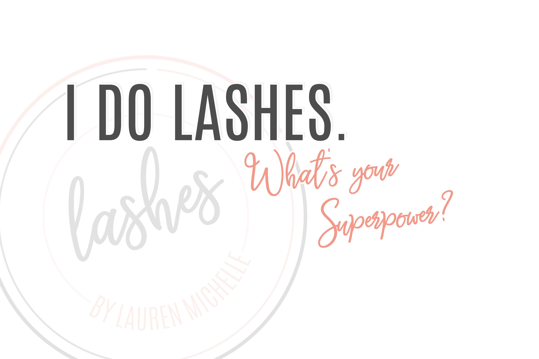 SugarLab Creative SA - Logo Design for Lashes by Lauren Michelle