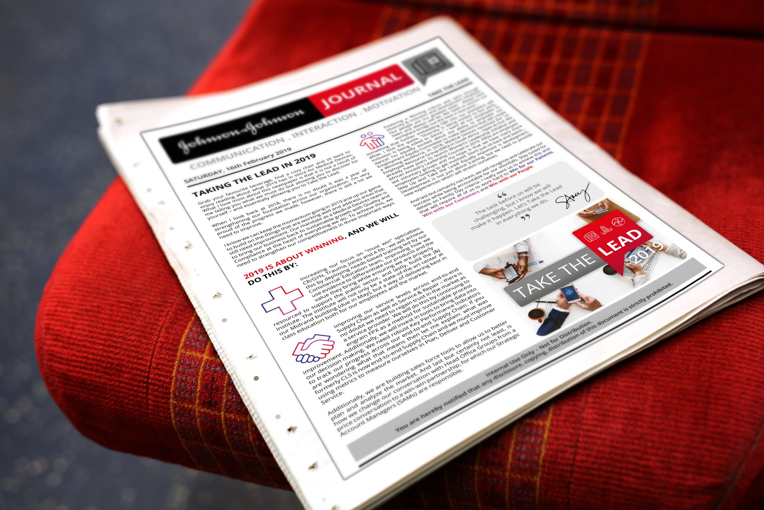 Johnson & Johnson - National Kick-off 2019 - Conference Newspapers