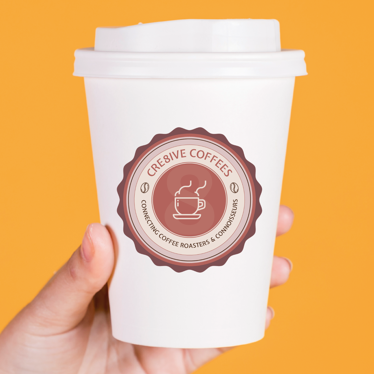 SugarLab Creative SA - Logo Design - Cre8ive Coffees