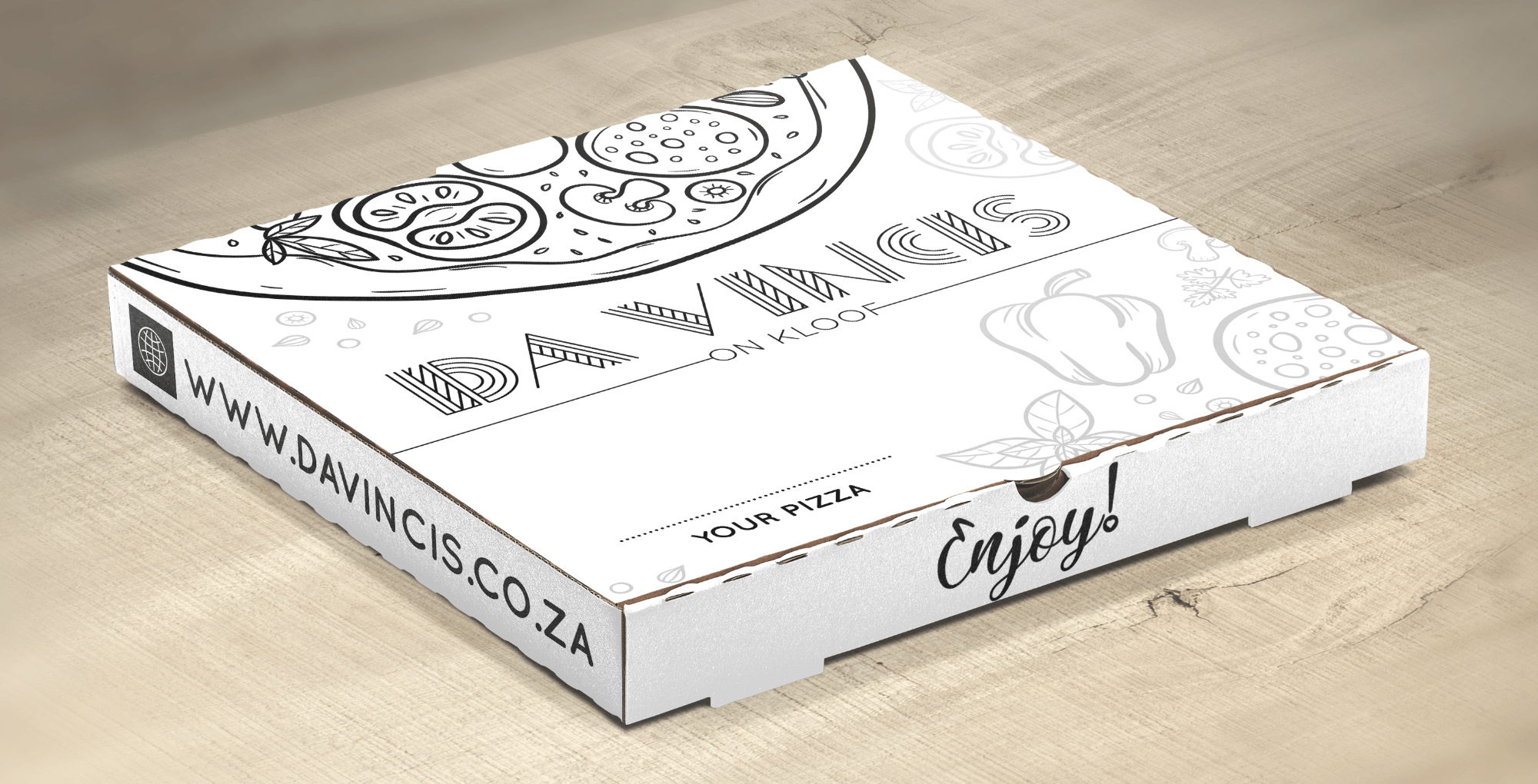 SugarLab Creative | Logo Design - Da Vincis on Kloof