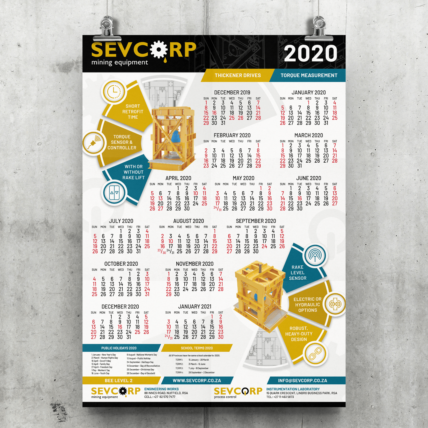 SugarLab Creative SA - Calendar Design - Sevcorp Mining Equipment